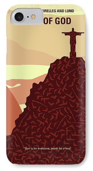 No716 My City Of God Minimal Movie Poster IPhone Case by Chungkong Art