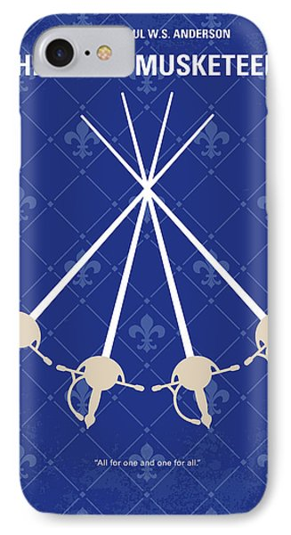 Cardinal iPhone 7 Case - No724 My The Three Musketeers Minimal Movie Poster by Chungkong Art