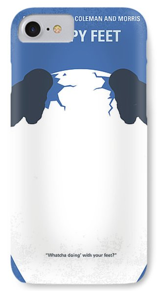 Penguin iPhone 7 Case - No744 My Happy Feet Minimal Movie Poster by Chungkong Art