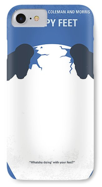 No744 My Happy Feet Minimal Movie Poster IPhone Case by Chungkong Art