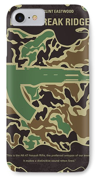 No747 My Heartbreak Ridge Minimal Movie Poster IPhone Case by Chungkong Art