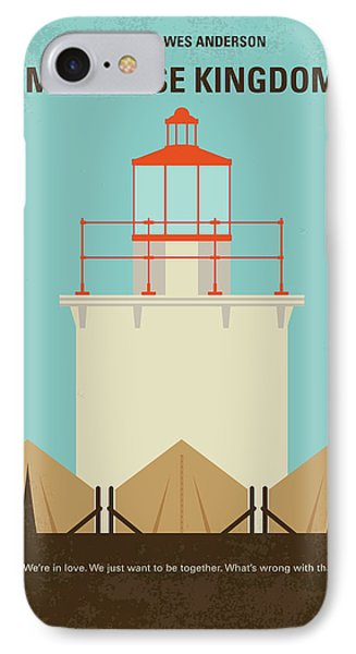 IPhone Case featuring the digital art No760 My Moonrise Kingdom Minimal Movie Poster by Chungkong Art