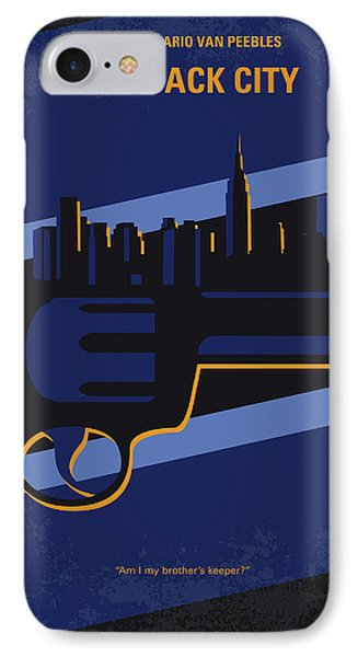 No762 My New Jack City Minimal Movie Poster IPhone Case by Chungkong Art