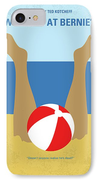 IPhone Case featuring the digital art No765 My Weekend At Bernies Minimal Movie Poster by Chungkong Art