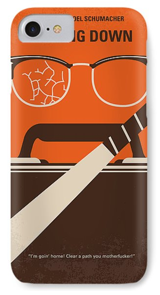 No768 My Falling Down Minimal Movie Poster IPhone Case by Chungkong Art