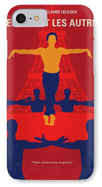 IPhone Case featuring the digital art No771 My Les Uns Et Les Autres Minimal Movie Poster by Chungkong Art