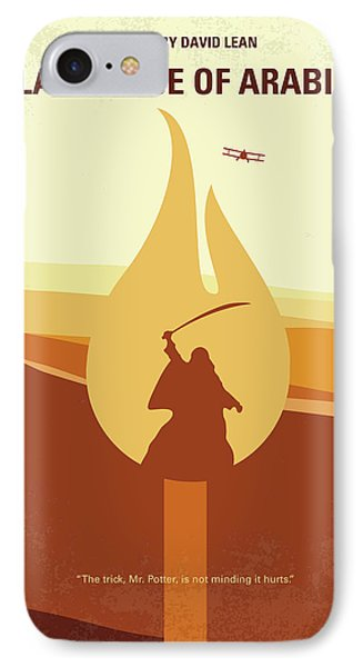IPhone Case featuring the digital art No772 My Lawrence Of Arabia Minimal Movie Poster by Chungkong Art