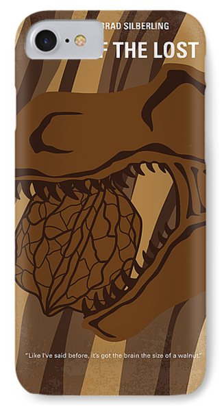 Dinosaur iPhone 7 Case - No773 My Land Of The Lost Minimal Movie Poster by Chungkong Art