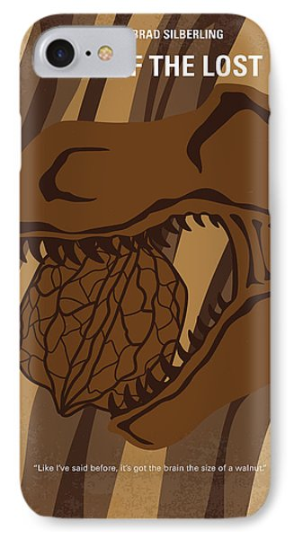 IPhone Case featuring the digital art No773 My Land Of The Lost Minimal Movie Poster by Chungkong Art