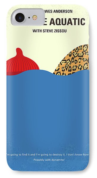 No774 My The Life Aquatic With Steve Zissou Minimal Movie Poster IPhone Case by Chungkong Art