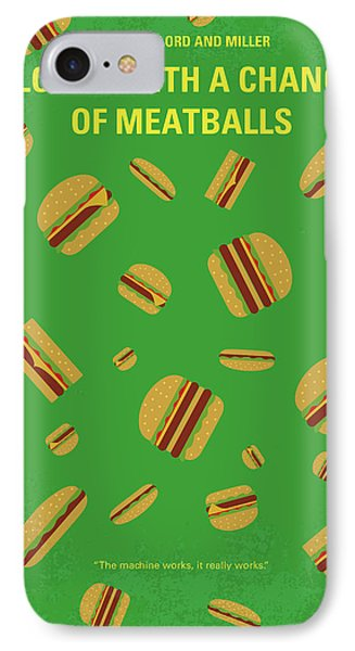 No778 My Cloudy With A Chance Of Meatballs Minimal Movie Poster IPhone Case by Chungkong Art