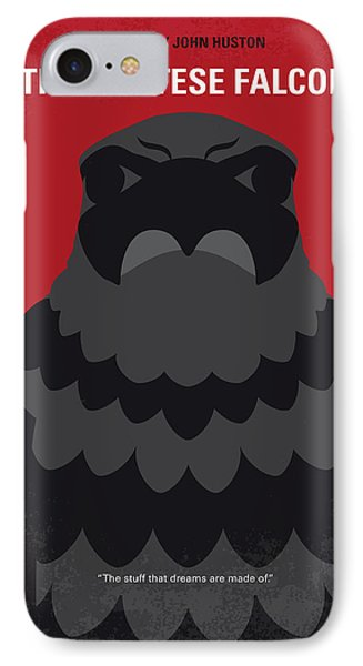 No780 My The Maltese Falcon Minimal Movie Poster IPhone Case by Chungkong Art