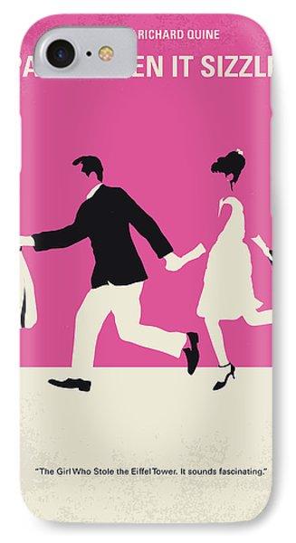 No785 My Paris When It Sizzles Minimal Movie Poster IPhone Case