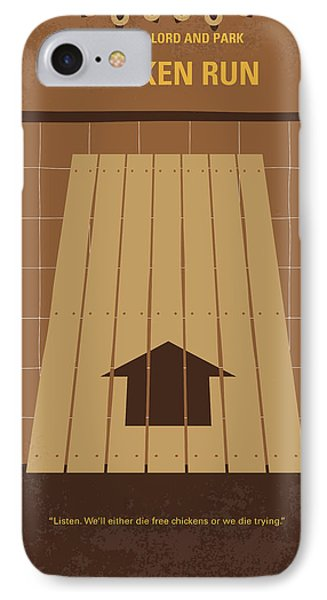 No789 My Chicken Run Minimal Movie Poster IPhone Case by Chungkong Art