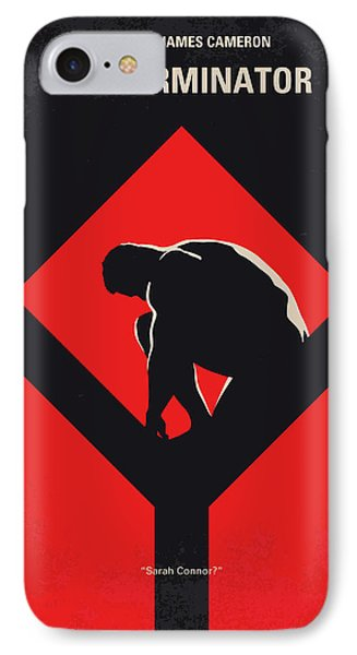 No802-1 My The Terminator 1 Minimal Movie Poster IPhone Case by Chungkong Art