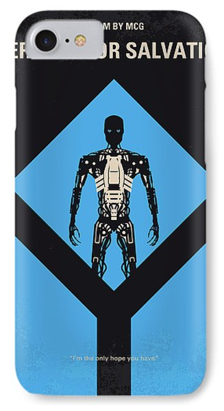 No802-4 My The Terminator 4 Minimal Movie Poster IPhone Case by Chungkong Art