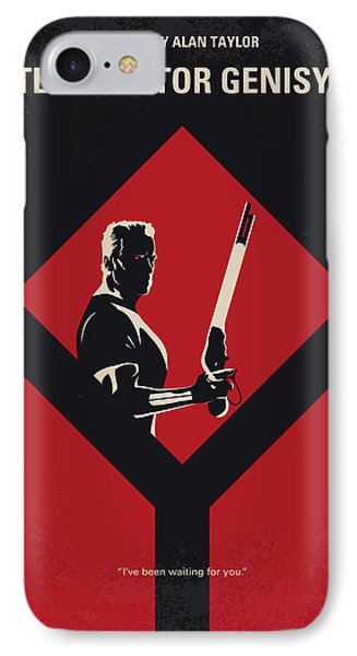 No802-5 My The Terminator 5 Minimal Movie Poster IPhone Case by Chungkong Art