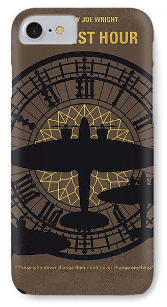 Westminster Abbey iPhone 7 Case - No901 My Darkest Hour Minimal Movie Poster by Chungkong Art
