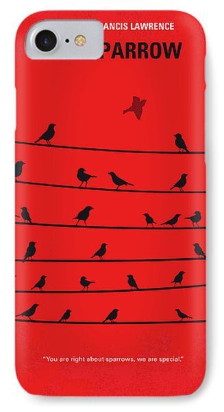 Sparrow iPhone 7 Case - No960 My Red Sparrow Minimal Movie Poster by Chungkong Art