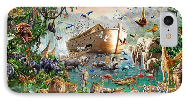 Noah's Ark Variant 1 IPhone Case by MGL Meiklejohn Graphics Licensing