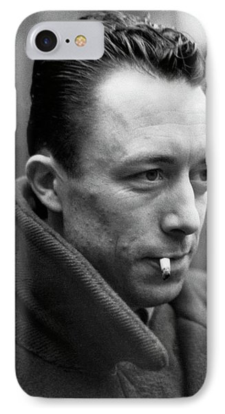 Nobel Prize Winning Writer Albert Camus Unknown Date #1 -2015 IPhone Case by David Lee Guss