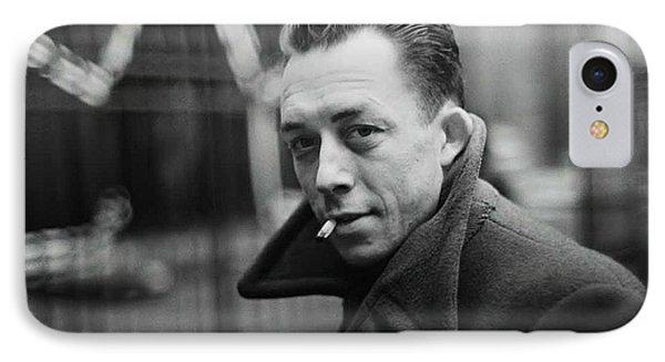 Nobel Prize Winning Writer Albert Camus  Unknown Date-2015           IPhone Case by David Lee Guss
