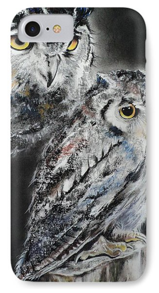 Noble Owl Guardian Of The Afterlife Phone Case by Carla Carson