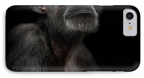 Chimpanzee iPhone 7 Case - Noble by Paul Neville