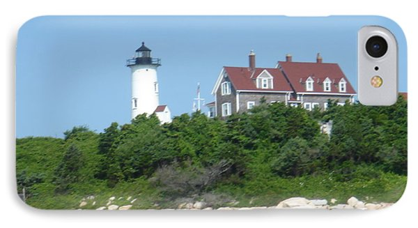 Nobska Point Lighthouse IPhone Case by Donna Walsh