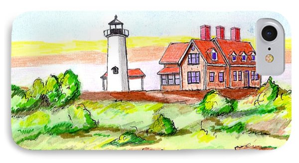 Nobska Point Lighthouse IPhone Case by Paul Meinerth
