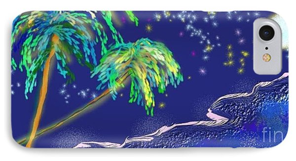 IPhone Case featuring the painting Noche Tropical by The Art of Alice Terrill
