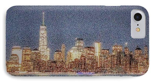 Noisy City IPhone Case by Sandy Taylor