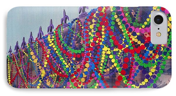 Mardi Gras Beads IPhone Case by Trisha Lyons