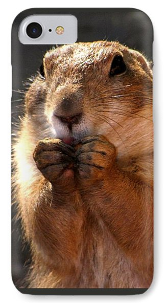 Snacking Prairie Dog IPhone Case