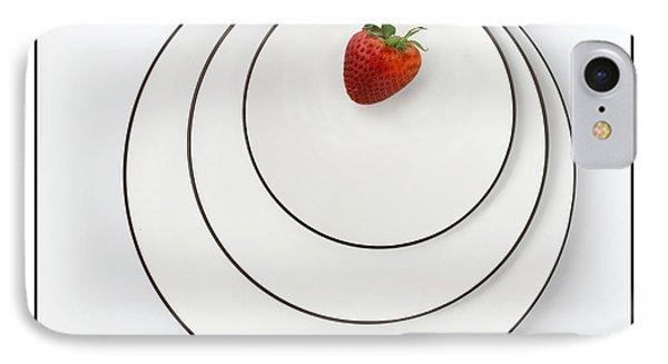 Nonconcentric Strawberry No. 2 IPhone Case by Joe Bonita