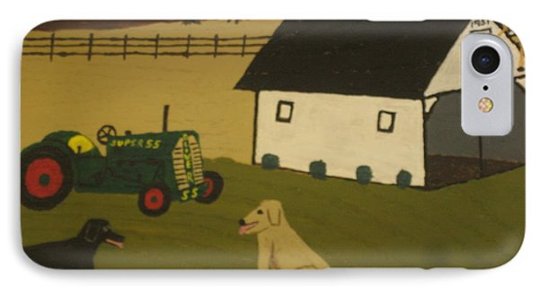 IPhone Case featuring the painting Nook And Brutus by Jeffrey Koss