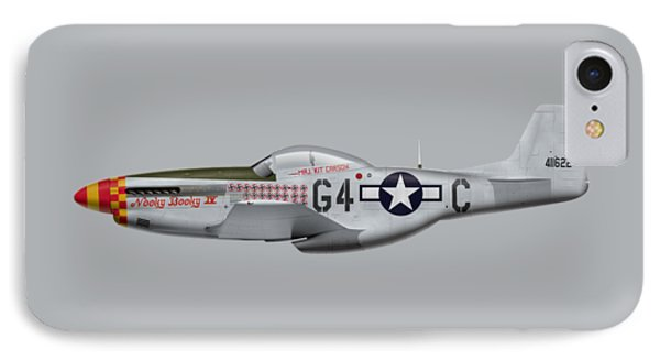 Nooky Booky I V - P-51 D Mustang Phone Case by Ed Jackson