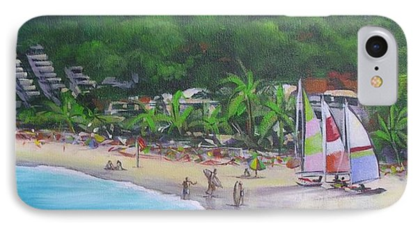 IPhone Case featuring the painting Noosa Fun Acrylic Painting by Chris Hobel