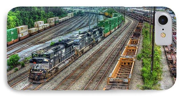 IPhone Case featuring the photograph Norfolk Southern Locomotive #2665 Atlanta Inman Intermodal Yard Art by Reid Callaway