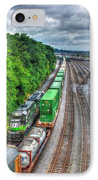 IPhone Case featuring the photograph Norfolk Southern Locomotive 648 Atlanta Train Art by Reid Callaway