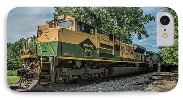 Norfolk Southern Ns 1067 At White River Bridge Petersburg In IPhone Case by Jim Pearson
