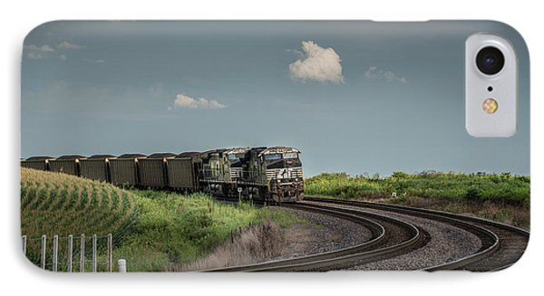 Norfolk Southern Railroad 7627 And 9825 At Princeton In IPhone Case by Jim Pearson