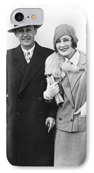Norma Shearer Honeymoon IPhone Case by Underwood Archives