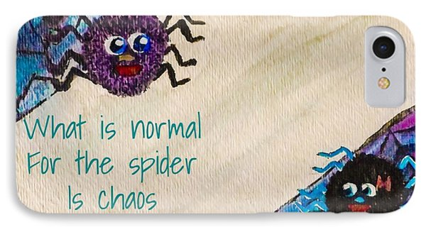 Normal Spider Chaos Fly IPhone Case by Jennifer Turner