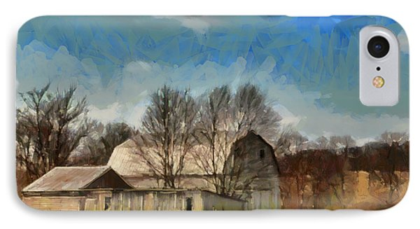 IPhone Case featuring the mixed media Norman's Homestead by Trish Tritz