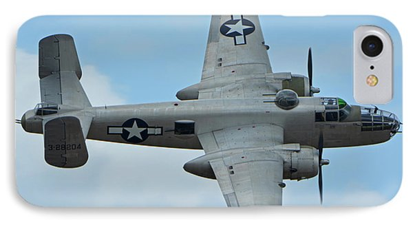 IPhone Case featuring the photograph North American B-25j Mitchell N9856c Pacific Princess Chino California April 30 2016 by Brian Lockett