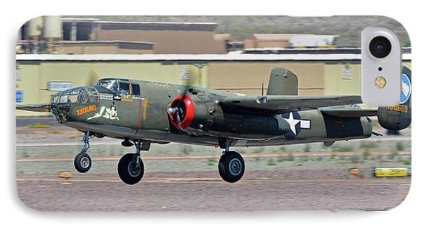 IPhone Case featuring the photograph North American B-25j Mitchell Nl3476g Tondelayo Deer Valley Arizona April 13 2016 by Brian Lockett