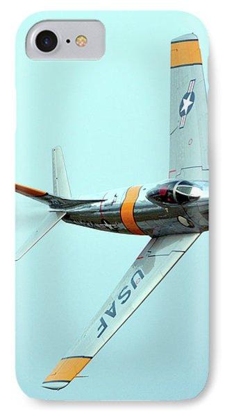 North American F-86f Sabre Nx186am Chino California April 29 2016 Phone Case by Brian Lockett