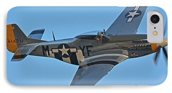 North American P-51d Mustang Nl151hr Chino California April 29 2016 Phone Case by Brian Lockett