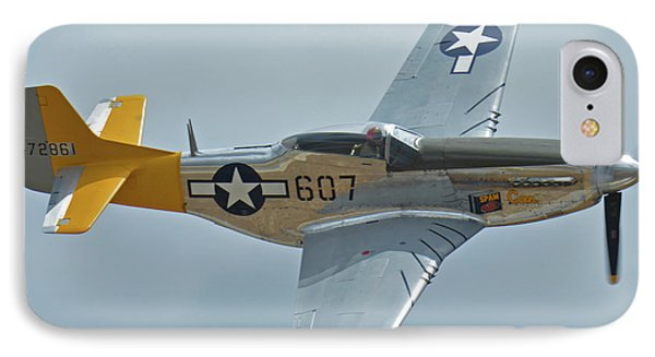 IPhone Case featuring the photograph North American P-51d Mustang Nl5441v Dolly/spam Can Chino California April 30 2016 by Brian Lockett